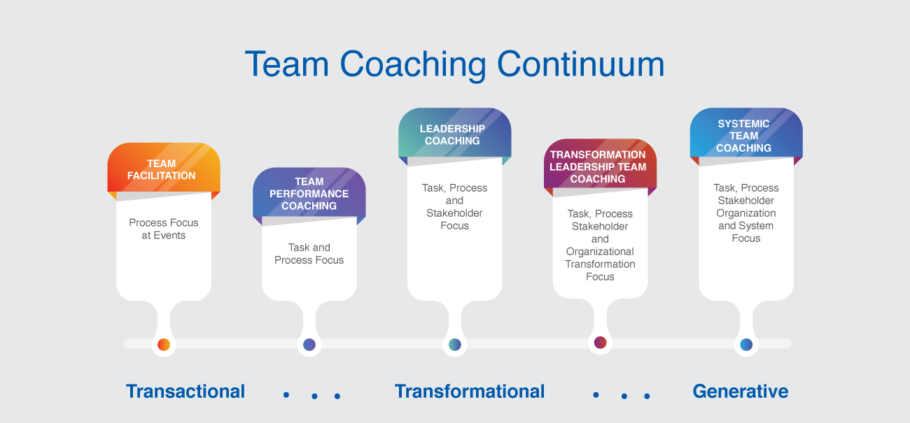 Team coaching continuum